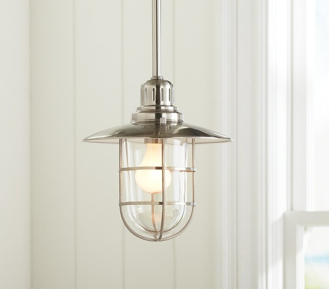 Pendant lighting pottery barn : Fisherman pendant traditional lighting by