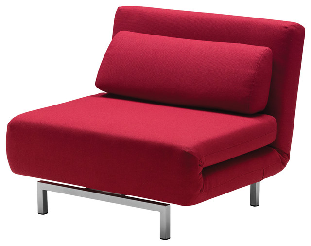 Iso Chair/Bed, Red Fabric - Modern - Sleeper Chairs - by Mobital USA ...