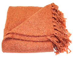 Woven Workz Marion Coral Throw Blanket contemporary-throws