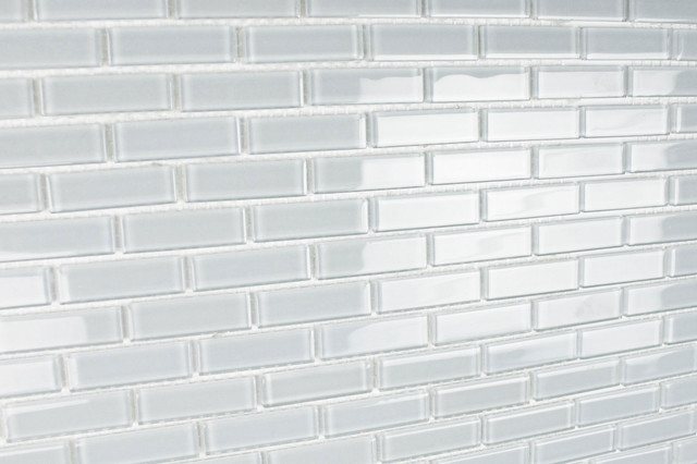 Icicle Small Subway Glass Mosaic Tile Modern Mosaic Tile Other