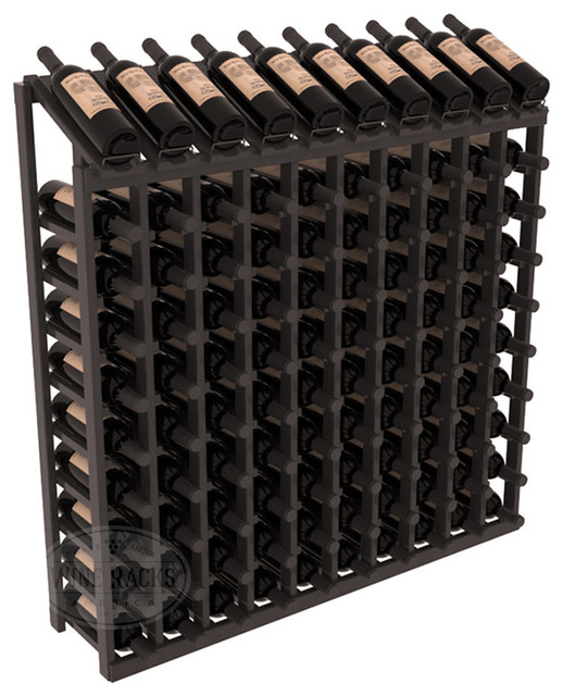 100 Bottle Display Top Wine Rack, Black Stain + Satin Finish contemporary-wine-racks
