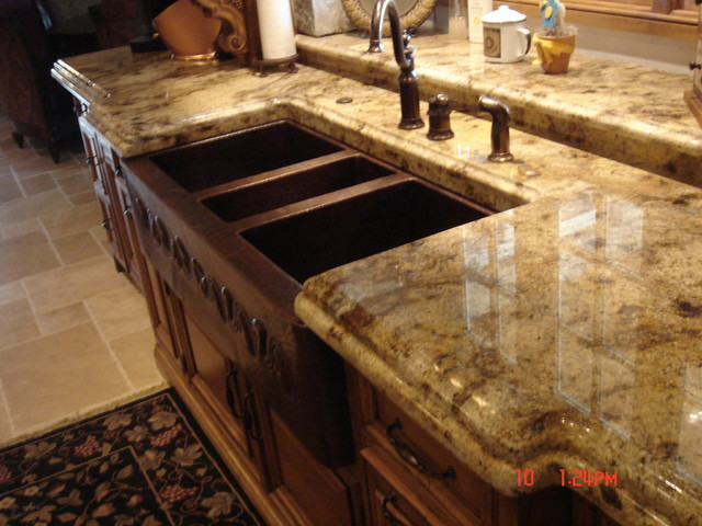 granite countertops traditional kitchen countertops chicago by