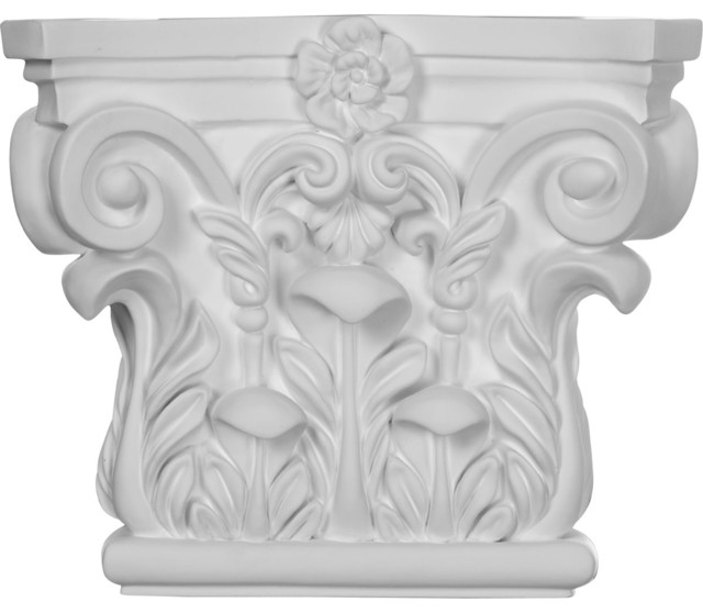 "8 5/8""W x 7 1/4""H Corinthian Capital (Fits Pilasters up to 5 5/8""W x 3/4""D) traditional-home-decor"