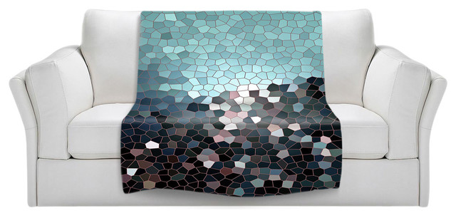Throw Blanket Fleece - Patternization II contemporary-throws