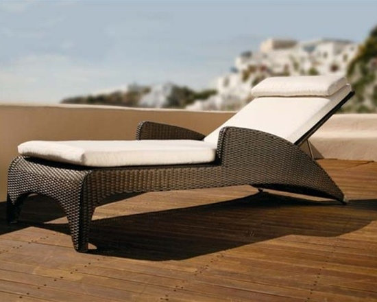 Variah Modern Patio Chaise Lounge - Bring a contemporary and durable compliment to your patio decor with this Variah Chaise Lounge.