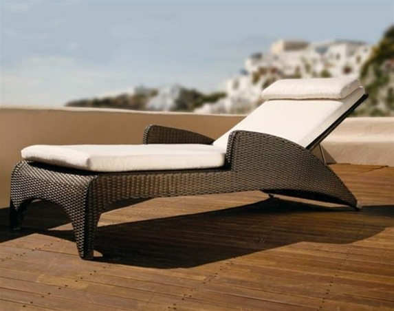 Variah Modern Patio Chaise Lounge - Modern - Patio Furniture And ...
