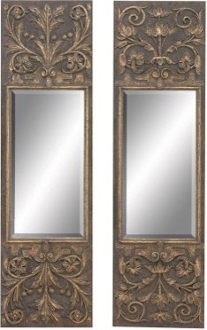 Slender Rectangular Mirrors - Set of 2 - 11W x 40H in. ea. modern mirrors