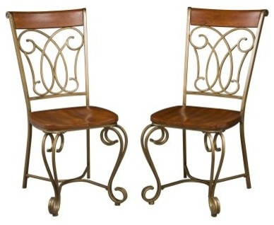 Home Styles St. Ives Dining Chairs - 2 Pack traditional-dining-sets