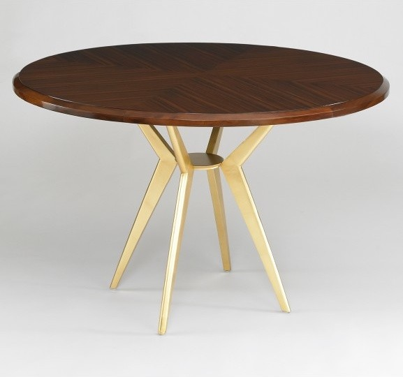 ... round table if it's contemporary, go with a contemporary table