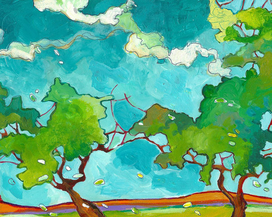 Fine Art- Paintings of Trees - acrylic on woodblock, ©Nicky Torkzadeh
