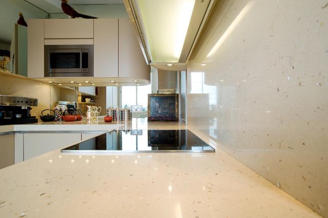 cuisine armony laqu mat tourterelle contemporary. Black Bedroom Furniture Sets. Home Design Ideas