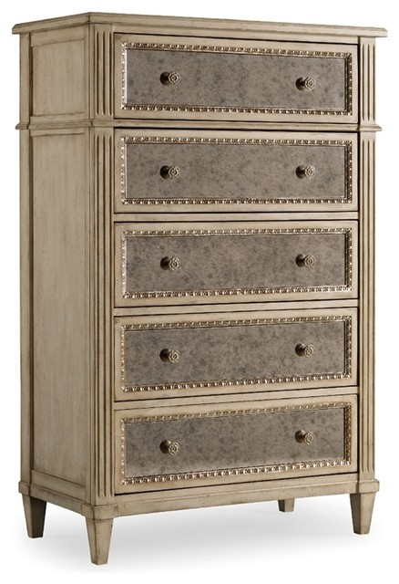 Five Drawer Chest, Pearl Essence contemporary-dressers-chests-and-bedroom-armoires