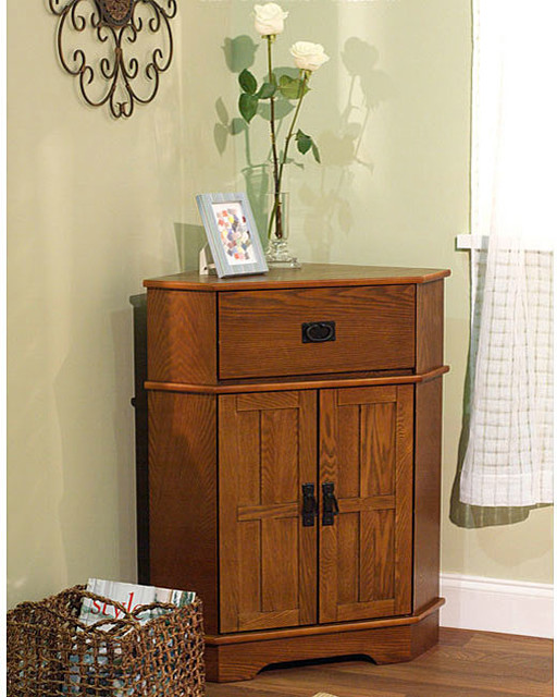 Simple Living Mission Corner Cabinet - Contemporary - Filing Cabinets - by Overstock.com