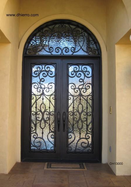 Iron Doors Exterior Mediterranean Entry Dallas