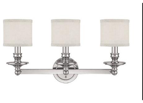 Capital Lighting 1238PN-451 Polished Nickel Loft 3 Light Vanity contemporary-bathroom-lighting-and-vanity-lighting