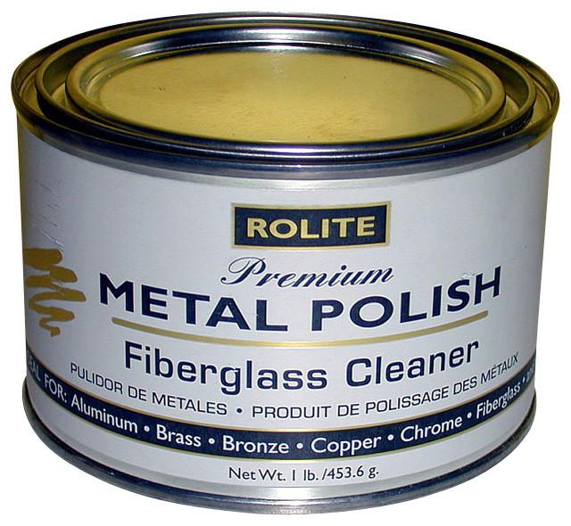 0000 Steel Wool On Shower Glass: Briwax Rolite Premium Metal Polish Tube 1Lb