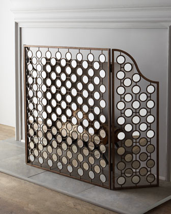 Mirrored Fireplace Screen traditional-fireplaces
