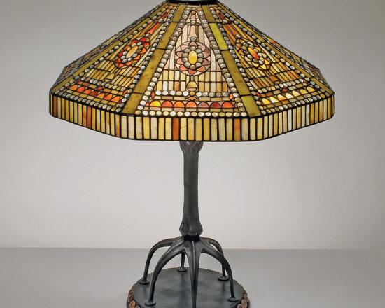 22-inch Geometric Deco Gemstone Tiffany-Style Table Lamp - 22-inch Geometric Deco Gemstone Tiffany-Style Table Lamp.