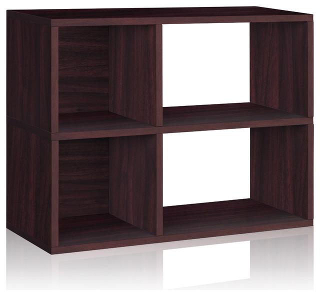 Way Basics 2 Shelf Chelsea Bookcase, Espresso modern-storage-cabinets