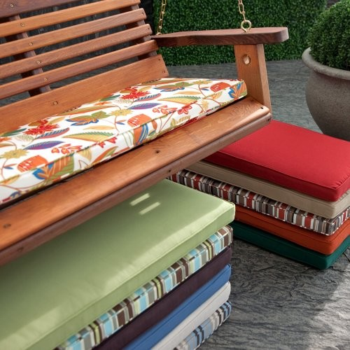 Coral Coast 43 x 14 Porch Swing and Glider Cushion Cambria Floral contemporary-kids-playsets-and-swing-sets