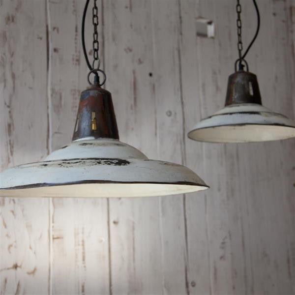 shimla pendant white distressed painted metal industrial ceiling
