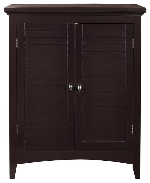 Slone Floor Cabinet with 2 Shutter Doors - Transitional - Bathroom Storage - by Elegant Home ...