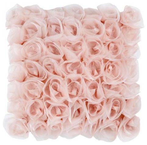 Dusk Pink Bouquet Cushion traditional-decorative-pillows