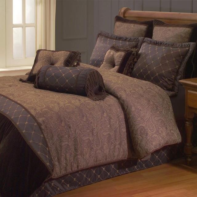 Opulent Paisley Comforter Set by Hallmart Collectibles Multicolor - 64911 contemporary-bedding