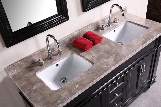 "Hudson 60"" Double Bathroom Vanity set traditional"