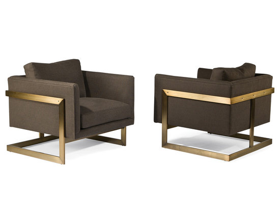 Thayer Coggin - Design Classic 989 T-Back chairs by Milo Baughman in brushed bronze from Thayer - Thayer Coggin, Inc.