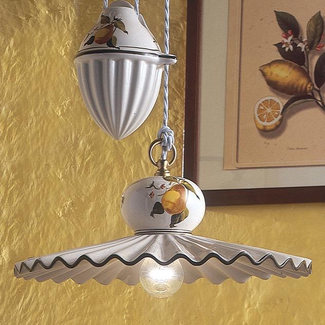 "Ferroluce ""Collection Roma"" ceramics light elements mediterranean-chandeliers"