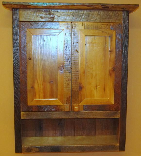 Luxury Reclaimed Wood Bathroom Cabinet  Bathroom Caddy  Bathroom Storage