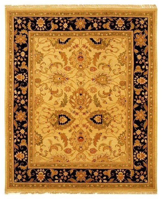gold and black border rug 4 ft x 6 ft traditional area rugs