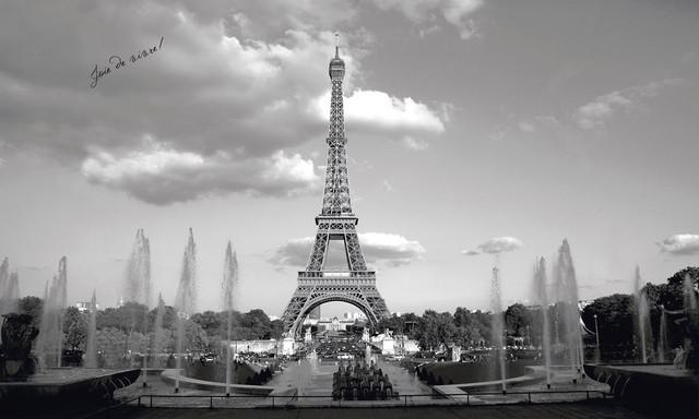 Bedroom Wallpaper Eiffel Tower-Eiffel Tower Collage Wall Decals    Eiffel Tower Wallpaper For Bedroom