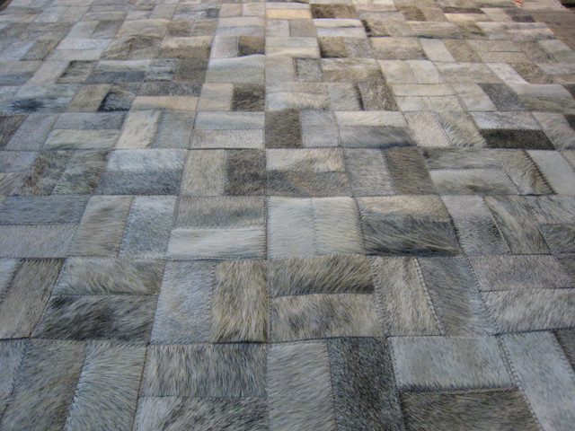 Made-to-Order Cowhide Patchwork Rugs - LIFESTYLE by Cara modern-rugs