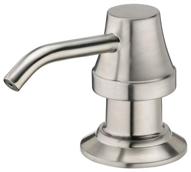 Estora soap or lotion pump dispenser 40000 bn brushed nickel finish contemporary soap - Brushed nickel soap dispenser pump ...