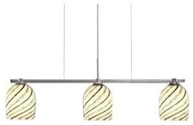 Bimbi White Spiral Linear Suspension by Oggetti Luce contemporary-pendant-lighting