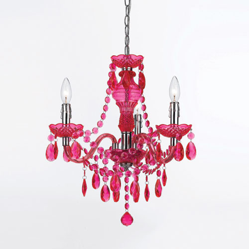 Fulton Hot Pink Chandelier By Angelo Home Eclectic