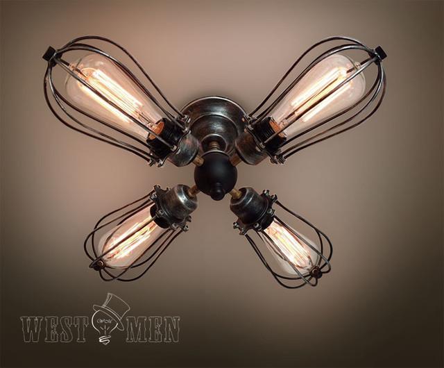 Rustic Semi Flush Mount Ceiling Light Kitchen 2014 New