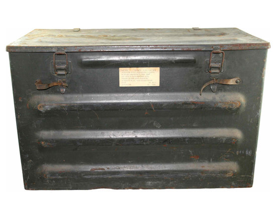 Swiss Ammo Box - Swiss metal storage box - originally used for ammo or general storage most likely.