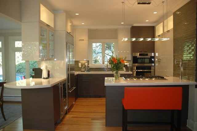 Contemporary Riverside, CT kitchen - Contemporary - new york - by J.M ...