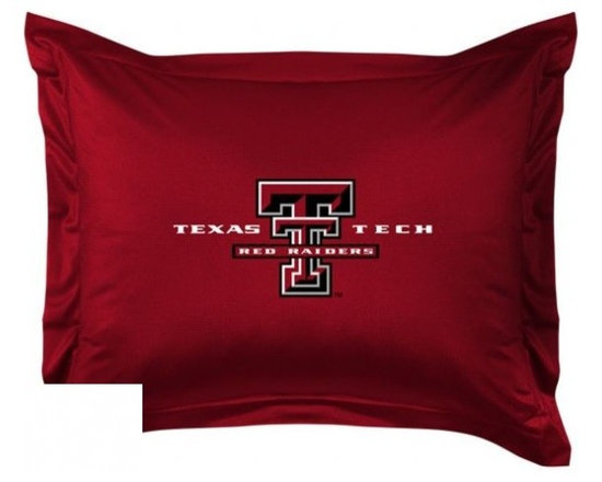 Sports Coverage - Texas Tech Red Raiders Locker Room Collection Pillow Sham - Show your team spirit with this officially licensed 25 x 31 Texas Tech Red Raiders sham. There is a 2 flanged edge that decorates all four sides of each Texas Tech NCAA sham. Made of 100% polyester jersey mesh, just like the players wear, with screen printed Texas Tech Red Raiders logo in the center. Envelope closure in back. Fits standard pillow. Coordinates with Texas Tech Locker Room Collection. 3 overlapping envelope closure is on back.