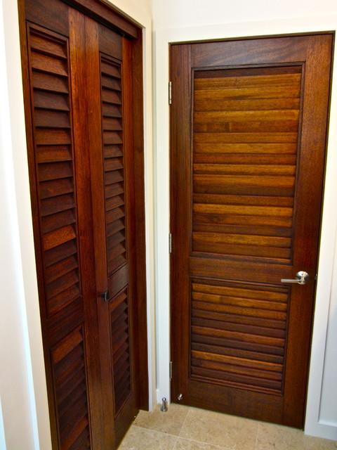 Koga Residence - Merbau Hardwood Louver Doors windows-and-doors