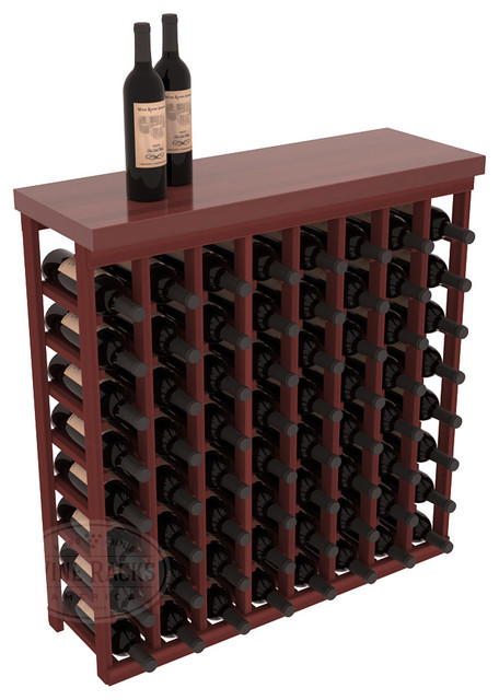 Tasting Table Wine Rack Kit with Butcher Block Top in Redwood, Cherry Stain contemporary-wine-racks