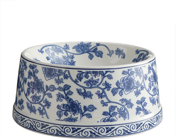 Blue and White Porcelain Pet Bowl traditional pet accessories