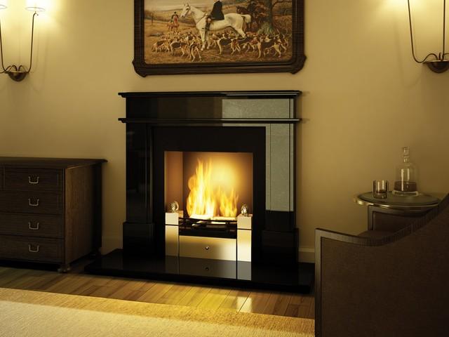 Planika 16'' x 12'' A-02 Insert/Freestanding Fireplace modern-indoor-fireplaces