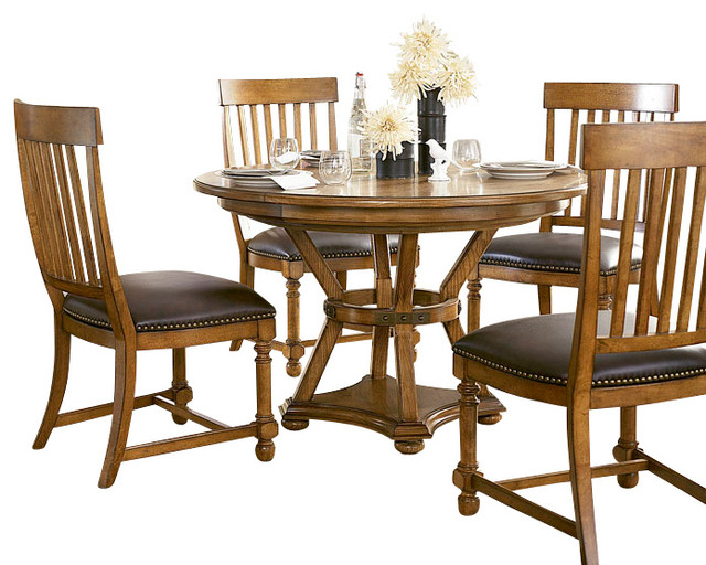 American Drew Americana Home 6 Piece Artisan 39 S Round Dining Room Set Tr
