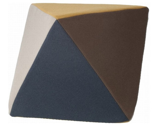 Ferm Living Wool Pouf - It took me a minute to realize this is a pouf. I love the lines, the colors, the idea. It's perfect as a sculpture or seating situation, and it looks extra comfortable.