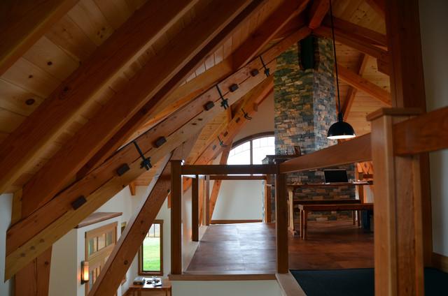 Custom Douglas Fir Timber Frame Traditional Home