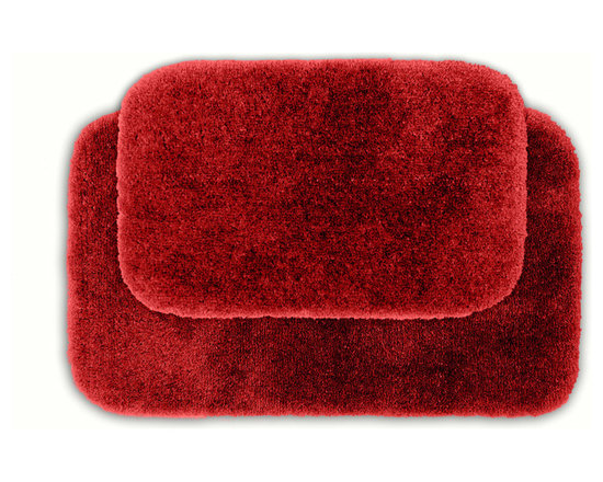 Sands Rug - Posh Plush Garnet Washable Bath Rug (Set of 2) - Revel in spa-like luxury every time you step into your bath with the Posh Plush collection of bath rugs. The amazingly soft, yet durable, nylon plush is machine washable, and each floor piece has a non-skid latex backing for safety.